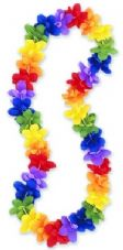 Multi-Colour Hawaiian Flower Lei 25 Pack